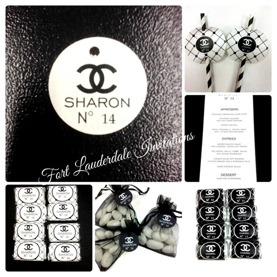 Coco Chanel Inspired Invitation Suite by Fort Lauderdale Invitations
